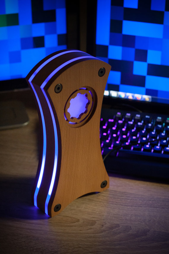 Wood, Acrylic, and some LEDs!